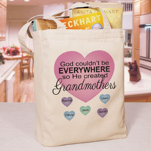 Personalized God Couldn't Be Everywhere Canvas Tote Bag