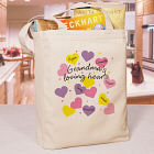 Loving Hearts Personalized Tote Bag