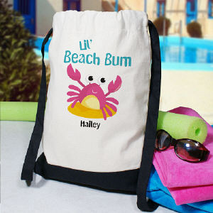 Beach Bum Personalized Backpack