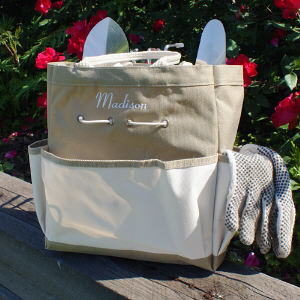 Embroidered Garden Tool Tote Bag