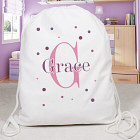 Personalized Polka Dot Sports Bag