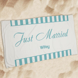 Personalized Wedding Get Away Beach Throw