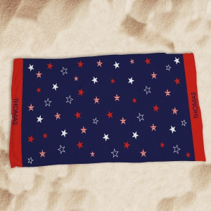 Personalized American Pride Beach Throw