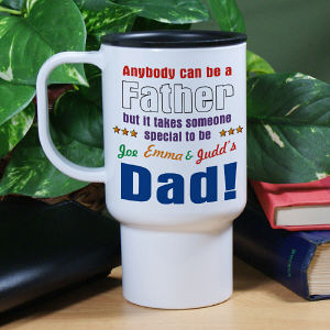 Personalized Anybody Can Be Dad Travel Mug