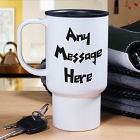 Personalized Funky Message Travel Coffee Mug