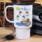 Personalized Fishing Buddies Travel Mug