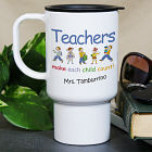 Personalized Make Each Child Count Teacher Travel Mug
