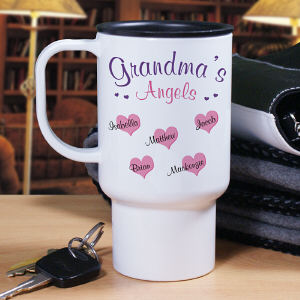 Personalized Angels Of My Heart Travel Mug