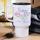 Personalized Sisters Travel Mug