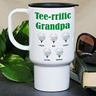 Personalized Tee-rrific Golfer Travel Mug