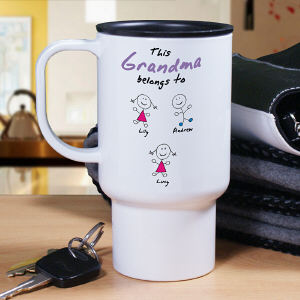 Personalized Belongs To Travel Mug