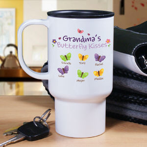 Personalized Butterflies Travel Mug T233960