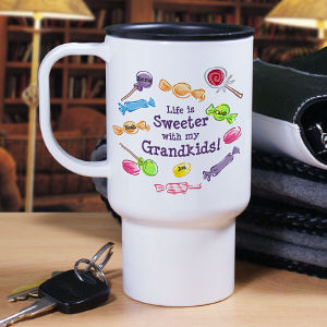 Personalized Life Is Sweeter Travel Mug