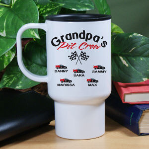 Personalized Pit Crew Travel Mug