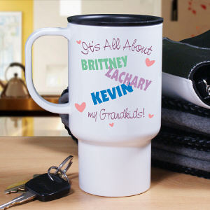 Personalized It's All About Travel Mug | Personalized Gifts for Grandma