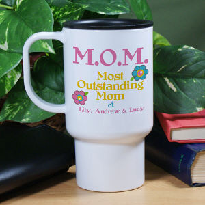Personalized Outstanding Mom Travel Mug