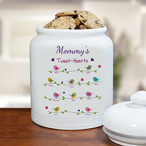 Personalized Tweet-Hearts Cookie Jar U1015415