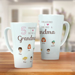 Personalized Reasons I Love Latte Mug | Personalized Gifts For Grandma