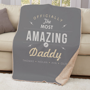 Personalized Most Amazing Sherpa Throw | Father's Day Gift