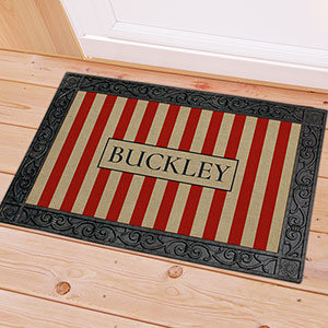 Personalized Patriotic Stripes Doormat U1027283X