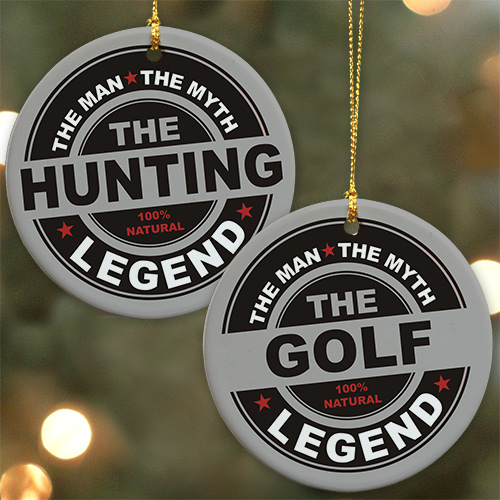 Personalized The Man, The Myth, The Legend Ornament | Personalized Christmas Ornaments