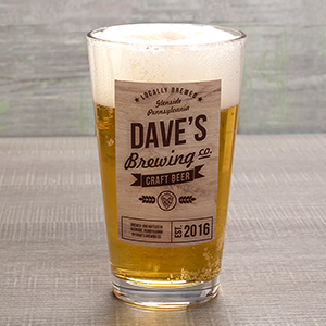 Personalized Brewing Company Pint Glass U1036892