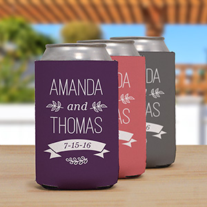 Personalized Wedding Couple Koozie | Personalized Wedding Koozies