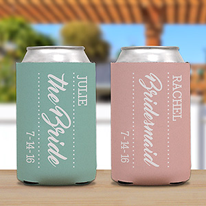 Personalized Bridal Party Koozie U1039588
