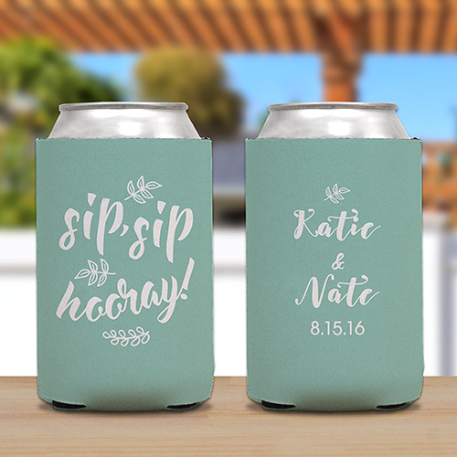 Personalized Sip,Sip, Hooray Koozie U1039688