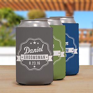 Personalized Groomsmen Koozie | Personalized Wedding Koozies