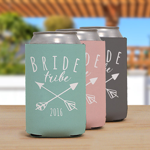Personalized Bride Tribe Koozie | Personalized Wedding Favors