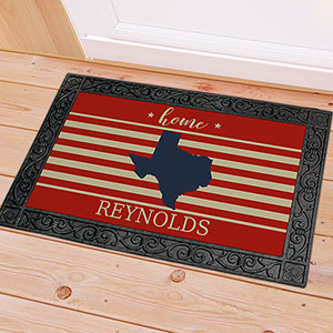 Personalized Patriotic State Doormat