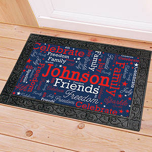 Personalized Patriotic Word-Art Doormat