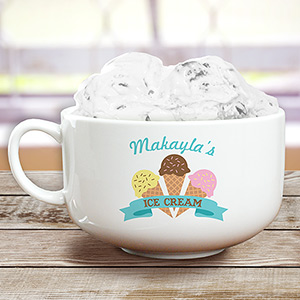 Personalized Ice Cream Cone Bowl U1046323