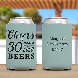 Personalized Cheers To Birthday Koozie