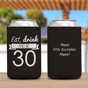 Personalized Eat, Drink Birthday Koozie U1052988