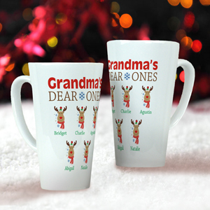 Personalized Grandma's Dear Ones Latte Mug U1054594