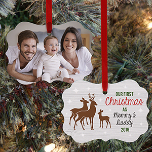 Personalized First Time Parents Christmas Ornament