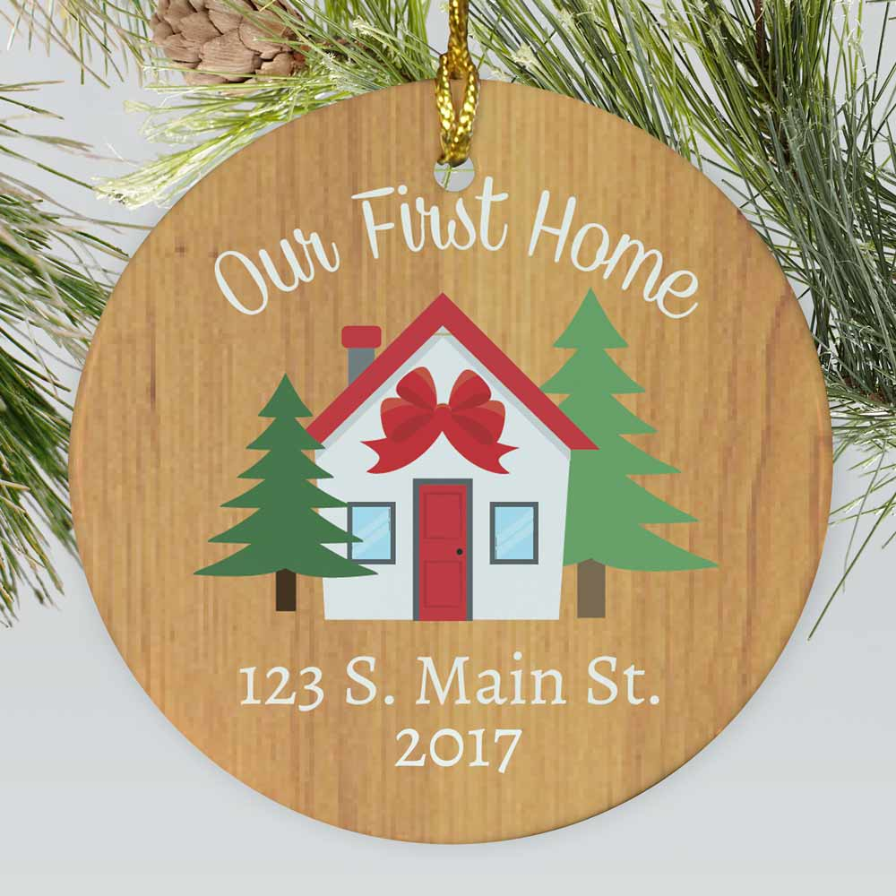 Personalized Our First Home Ceramic Ornament | Personalized Ornaments