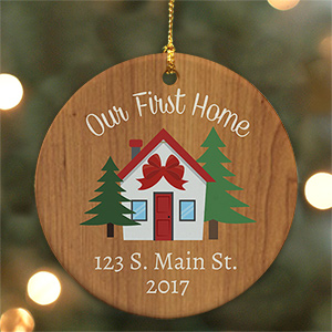 Personalized Our First Home Ceramic Ornament U1064010