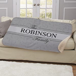 Personalized Family Name Sherpa Blanket