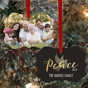 Personalized Peace Photo Benelux Ornament