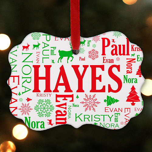 Festive Christmas Photo Ornament | Christmas Ornaments Personalized