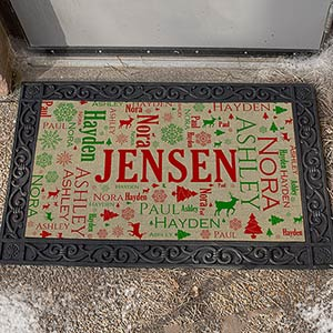 Christmas Word-Art Doormat