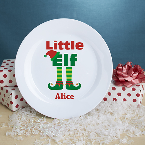 Personalized Elf Family Plate U1070991
