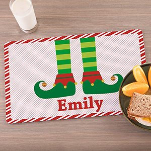 Personalized Elf Family Placemat | Personalized Christmas Placemats