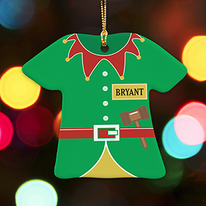 Personalized Elf T-Shirt Ornament U1071063