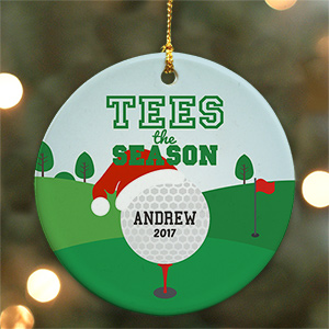 Personalized Tees The Season Golf Ornament