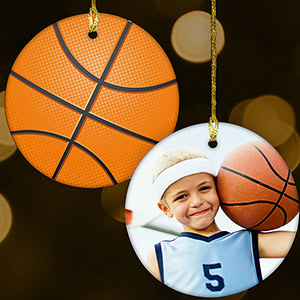 Sports Photo Ornament-Basketball U1071610BB