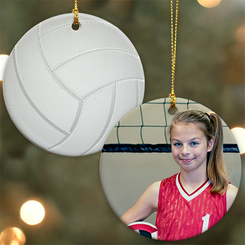 Sports Photo Ornaments Volleyball | Personalized Sports Ornaments